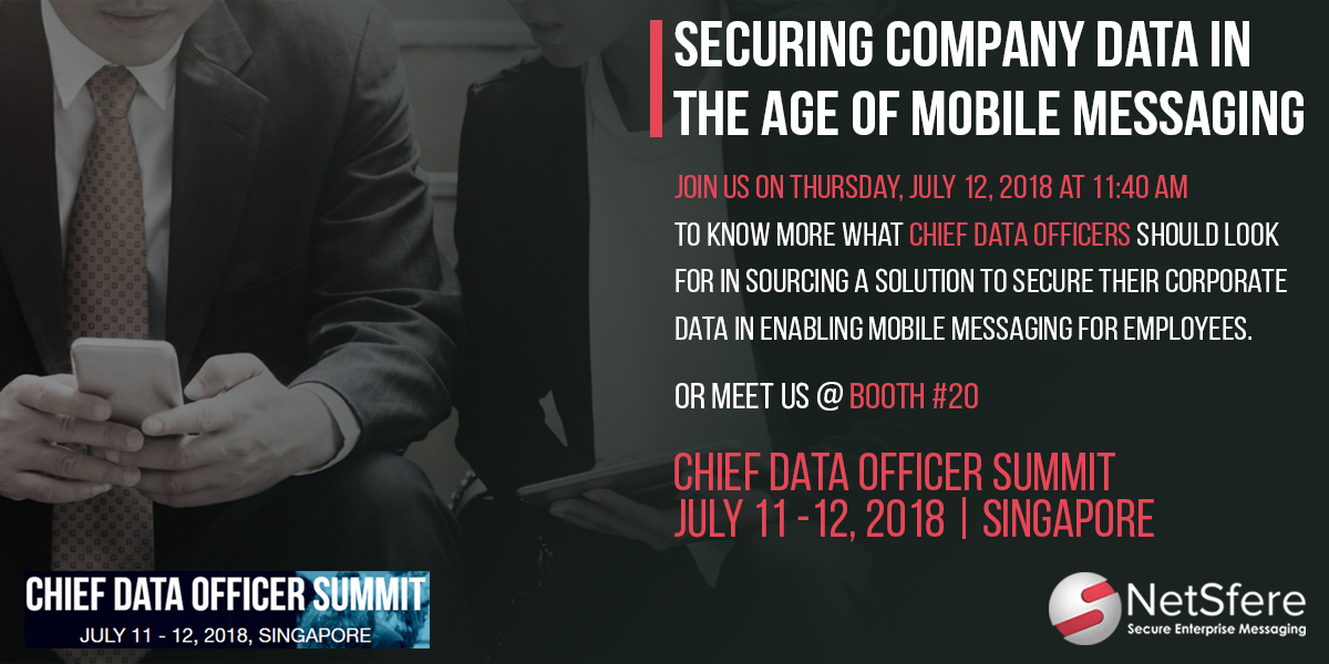 Meet us at Chief Data Summit