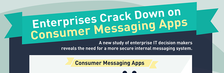 Infographic Ideas infographic messaging apps : Enterprise Crack Down on Consumer Messaging Apps